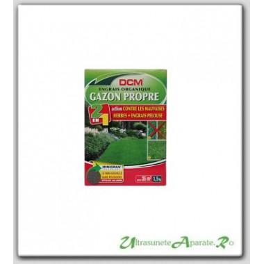Fertilizant peluza + erbicid (2in1) NPK 9-3-6 DCM 1.5kg