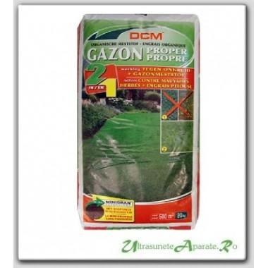 Fertilizant peluza + erbicid (2in1) NPK 9-3-6 DCM 20kg