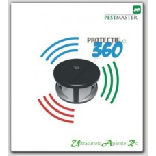 Aparat cu ultrasunete profesional anti rozatoare cu un unghi de 360 grade (370 mp) - Pestmaster AG360