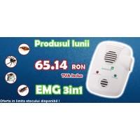 Anti rozatoare cu ultrasunete si unde electromagnetice Pestmaster EMG 3in1 (200 mp)