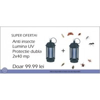 Anti insecte cu lumina ultravioleta Pestmaster IK4, 2 buc la 99.99 lei