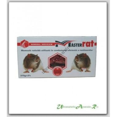 Momeala raticida bricheta pentru eliminarea sigura a soarecilor si sobolanilor - MasterRat pellets (300 gr)