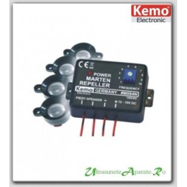 Generator de ultrasunete si 4 boxe pentru protectia autovehiculelor impotriva rozatoarelor - M094