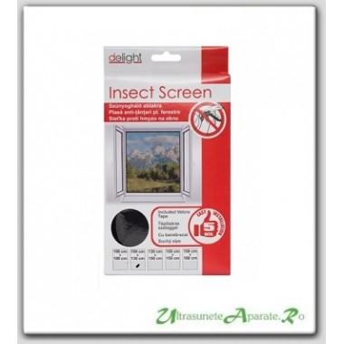 Plasa de protectie pentru ferestre impotriva insectelor - 100x130 cm