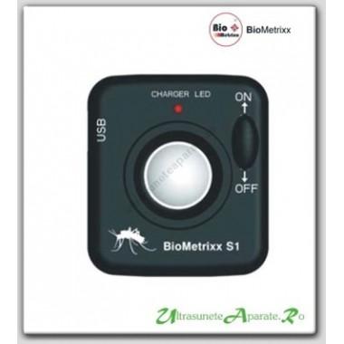 Aparat portabil cu ultrasunete anti tantari pentru camping, pescuit  (25 mp) BioMetrixx S1