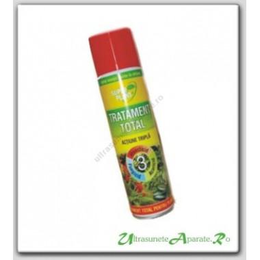 Spray tratament total, bactericid, fungicid, insecticid pentru plante ornamentale (250 ml) - Super Plant