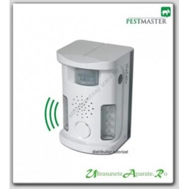 Anti pasari cu lumina flash, alarma acustica si ultrasunete Pestmaster UAF03 (70 mp)